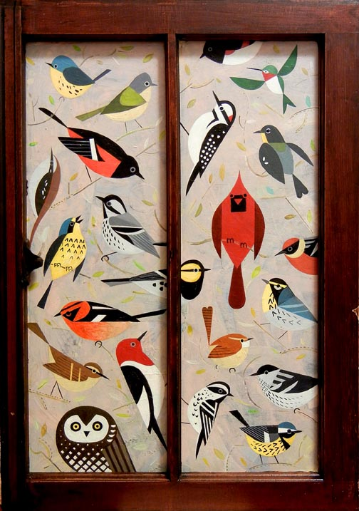 Scott Partridge painting - bird window 3
