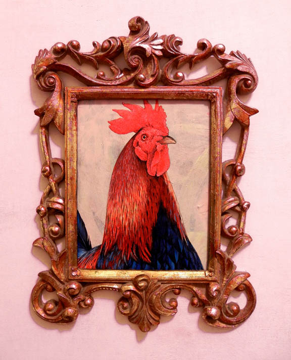Scott Partridge painting - key west rooster portrait