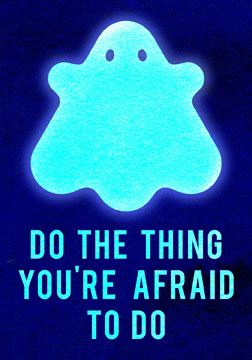 scott partridge - manifestation card - do the thing youre afraid to do