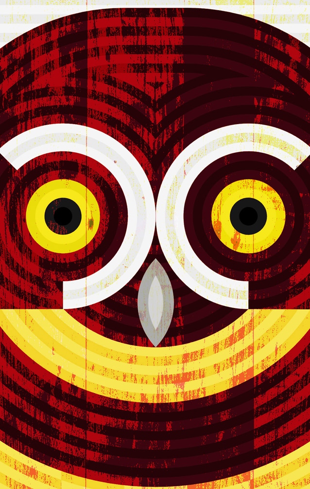 scott partridge - art o mat - spectacled owl