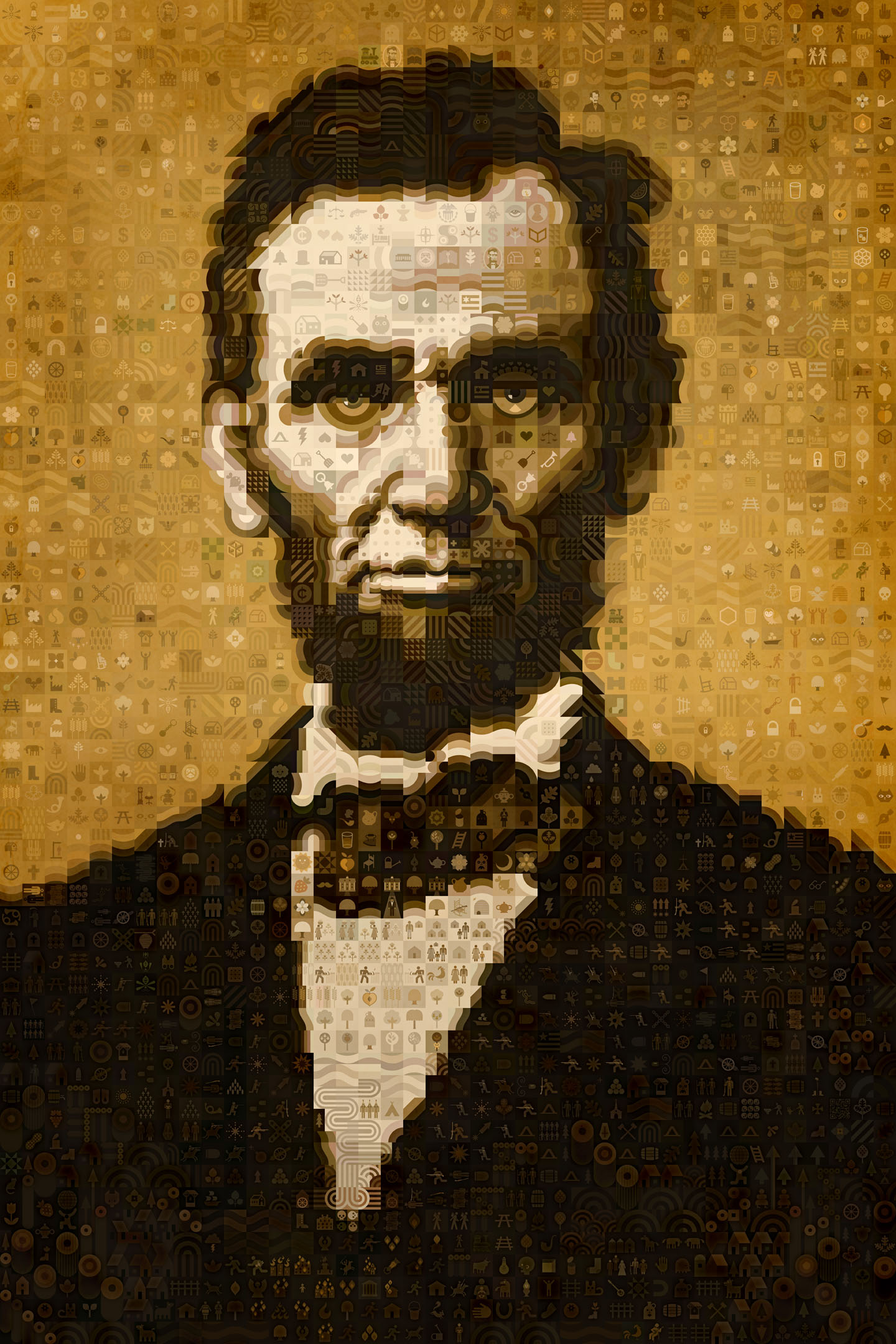 scott partridge - Abraham Lincoln digital mosaic