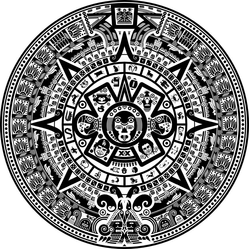 Scott Partridge Commercial Art 1900 Mexican Aztec