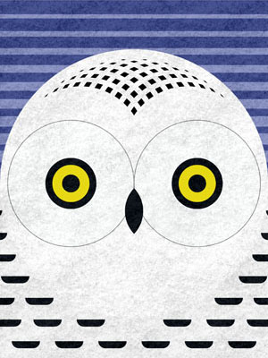 scott partridge - art o mat - snowy owl