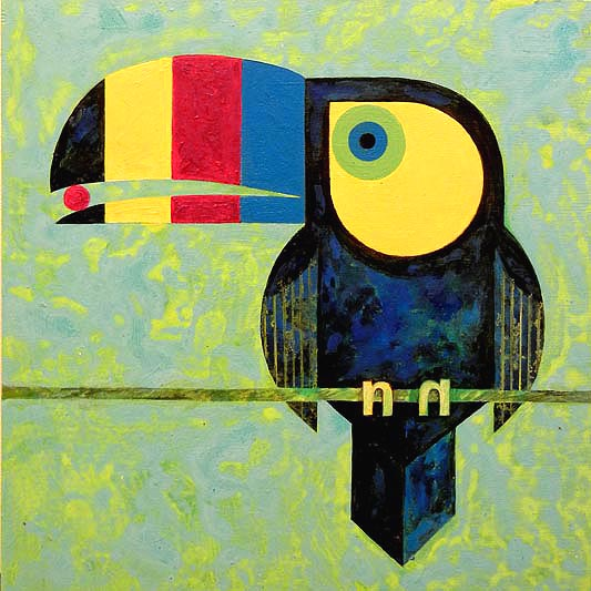 Scott Partridge painting - cmyk toucan