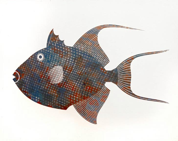 Scott Partridge painting - triggerfish